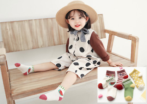 5 Pairs Baby kids Cotton socks for Autumn/Spring/Summer