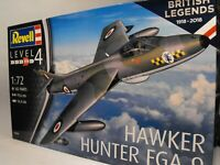 MODEL RAF HAWKER HUNTER FIGHTER PLANE REVELL 1:72 plastic construction model kit