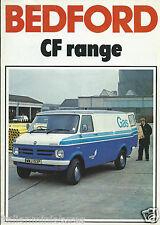 Bedford CF Van Range 1976 Original Brochure Excellent Condition