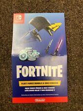 Fortnite Fleet Force Bundle & 500 V-Bucks Rare New Nintendo Switch fast  Ship