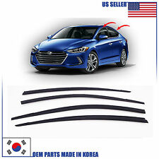 SMOKE DOOR WINDOW VENT VISOR DEFLECTOR (D073)  HYUNDAI ELANTRA SEDAN 2017-2018