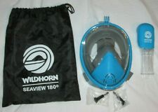 WILDHORN Outfitters Seaview 180° Panoramic Full Face Snorkel Mask - Blue - L /XL