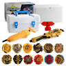 12PCS Beyblade Gold Burst Set Spinning Box Case Toys With Grip Launcher+Portable