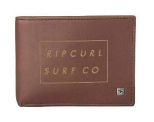 Rip Curl SURF CO RFID ALL DAY WALLET Mens LEATHER Wallet New - BWLKM1 Brown
