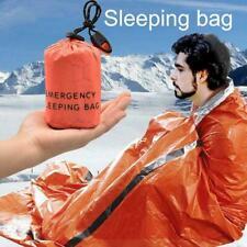 Outdoor Emergency Sleeping Bag Thermal Waterproof Survival Camping N6T5
