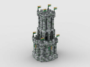 Lego MOC medieval castle/Burg, tower/Turm, modular, instruction/Anleitung