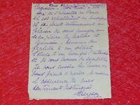 Letter Signed Autograph Mrs. Henri Bergson (Philosopher) 1917 Louise Neuberger