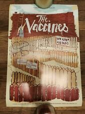The Vaccines concert poster The Fillmore San Francisco Signed