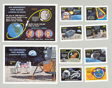Grenada #1734-1743 Space, Apollo 11 8v & 2v S/S Imperf Proofs