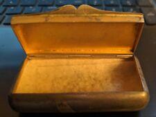Antique Victorian Sterling Silver Jewelry Treasure Box Snuff Pill  Coins #UT324