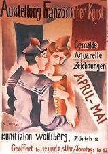 Original Plakat - Ausstellung Französischer Kunst - A. Lhote