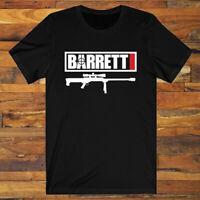 BARRETT Ammunition Guns Firearms Logo Men's Black T-Shirt S-3XL