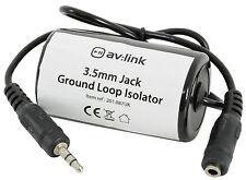 3.5mm Jack Ground Loop Isolator Prevents Unwanted Hum on Audio Equipment