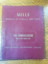 Original 1940s Mills Evans Constellation Model 950-951 Manual of Service & Parts
