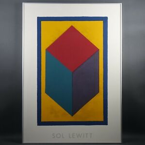 "SOL LEWITT ""CUBE""  Print 1999 39.5"" x 27.5"" Frame FREE CHICAGO PICKUP"