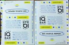 24 IQ BAR Brain + Body LEMON Blueberry 10G Plant Protein 1G Sugar 4G Carb $50!
