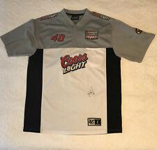 Sterling Martin Signed Coors Light Nascar Shirt Jacket Size Large