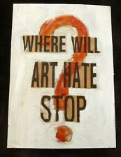 More details for harry adams and billy childish art hate original collage where will art hate...