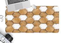 3D Sechseckiger 3 Textur Rutschfest Büro Schreibtisch Mauspad Tastatur Spiel
