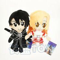 Sword Art Online SAO Kirito Asuna couple love plush dolls doll UU38 ANIME