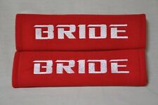 NEW Seat Belt Cover Shoulder Pads Pairs with Embroidery Bride Racing Logo
