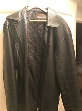 travellers men's leather Long jacket Size XL