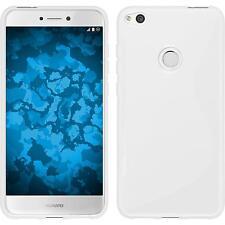 Coque en Silicone Huawei P8 Lite 2017 - S-Style blanc + films de protection