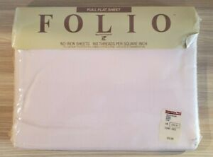 Vintage Sheet New West Point Pepperell Permanent Press Percale Pink Flat Full