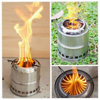 Portable Compact Camping Stove Outdoor Fuel Furnace Burner Hiking Travel Tool