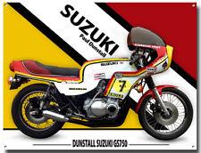 "1978 SUZUKI GS750 PAUL DUNSTALL METAL SIGN.CLASSIC SUZUKI MOTORCYCLES 12"" X 16"""