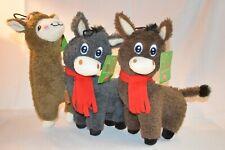 "U PICK Dog Toy Hyper-Pet LLAMA or DONKEY Plush SQUEAKER 10"" Animal Hyper PET"
