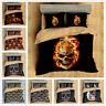 3D Flame Skull Skeleton Duvet Cover Bedding Set Pillowcase Quilt/Doona Cover Set