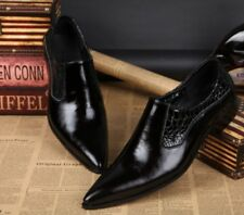 New Mens Leather Oxfords Pointed Toe Dress Wedding Shoes Business Formal Pumps