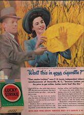 LUCKY STRIKE CIGARETTES MAGAZINE AD  VINTAGE ADVERTISING