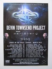 DEVIN TOWNSEND PROJECT  concert poster 2015 / Chaos In The Skies - Europe tour