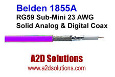 Belden 1855A RG59 Sub-Mini 23 AWG Solid Digital Coax Cable - 1,000 ft VIOLET