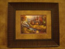 "THOMAS KINKADE FRAMED 25TH YEAR ANNIVERSARY PRINT FRAMED ""MOUNTAIN PARADISE"""