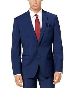 Bar III Mens Suit Seperates Deep Blue Size 38 R Stretch Suit-Jacket $350 140