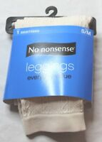 Women's Cable Seamless Leggings by No Nonsense White Size Small/Medium 6-10 New