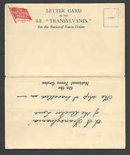 Ca 1949 Pc* Ny Letter Card S.S. Transylvania Of The Anchor Line 5 Page See Info