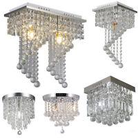 Modern Chandelier Crystal Glass LED Ceiling Light Fixture Pendant Elegant Light