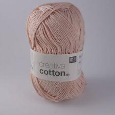 Rico Creative Cotton DK - 100% Cotton Knitting & Crochet Yarn - Pastel Pink 004