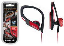 Panasonic In Ear Clip Type Water Resistant Sports Gym Headphones RP-HS34 - Red