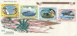 Z 754 New Hebrides Condominium 28 Sept 1967 First Day Cover ; WW2