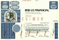 U.S. Financial (USF) - Stock Certificate