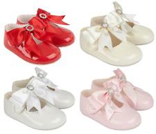 Zapatos Bebé Niña Suave Cochecito Baypods Diamante Arco español Bautizo Boda