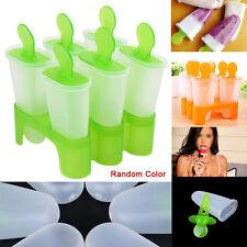 DIY 6 Freezer Ice Lolly Cream Yogurt Icebox Juice Maker Pop Mould Popsicle TL