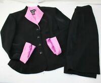 POSITIVE ATTITUDE WOMEN'S SKIRT SUIT Size 8 Two Piece Suit Black Three Button