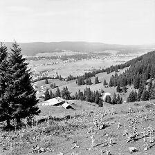 SUISSE c. 1959 - Panorama  Col du Marchairuz - Négatif 6 x 6 - Sui 133