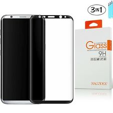 3x NX Samsung Galaxy S8 Plus Tempered Glass 3D Full Coverage Screen Protector